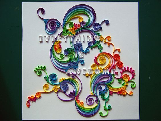 quilling finished