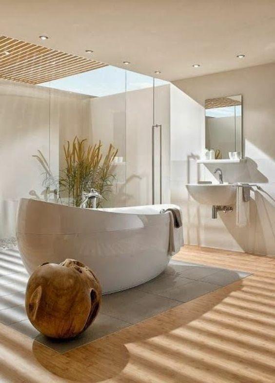 deckenbeleuchtung badezimmer ideen bilder beton badewanne einrichten und wohnen pinterest. Black Bedroom Furniture Sets. Home Design Ideas