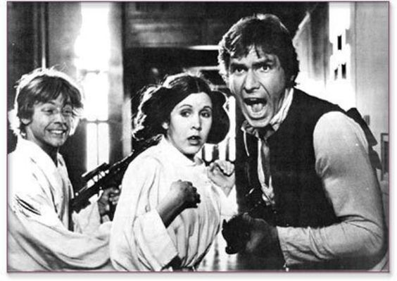 Mark Hamill, Carrie Fisher, Harrison Ford