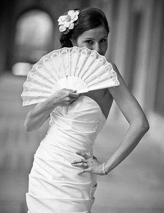 Abanico novia