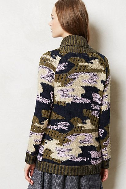 Campagne Camo Cardigan, Anthropologie