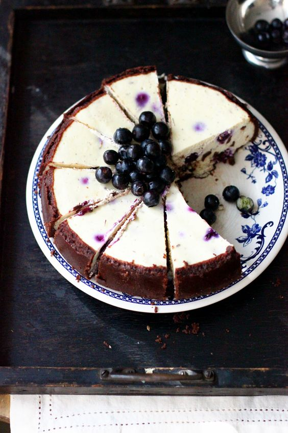 Blueberry Chocolate Chip Cheesecake: