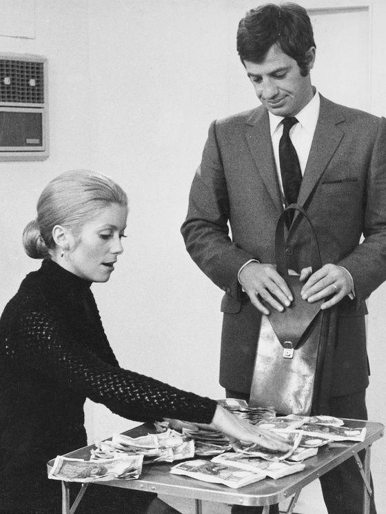 Catherine Deneuve et Jean-Paul Belmondo dans « La sirène du Mississipi » en 1969.
