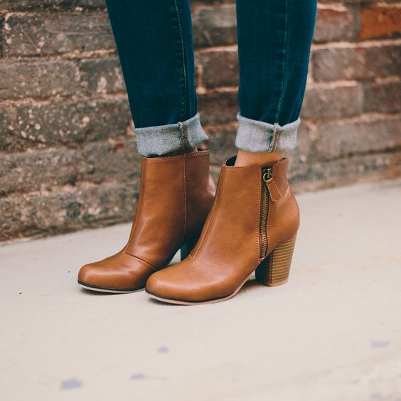 Cognac Ankle Boots Charolotte Russe ($43):