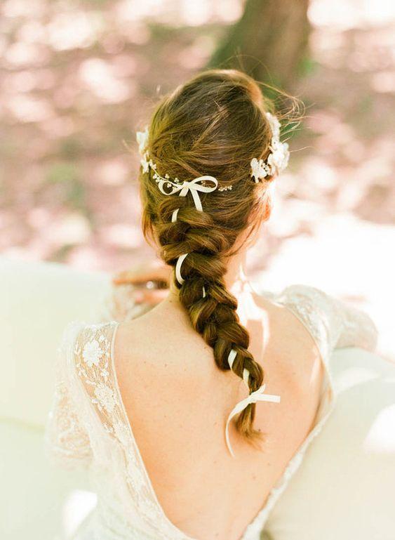 trança, noiva de trança, penteado com trança para noivas, penteado com trança para madrinhas