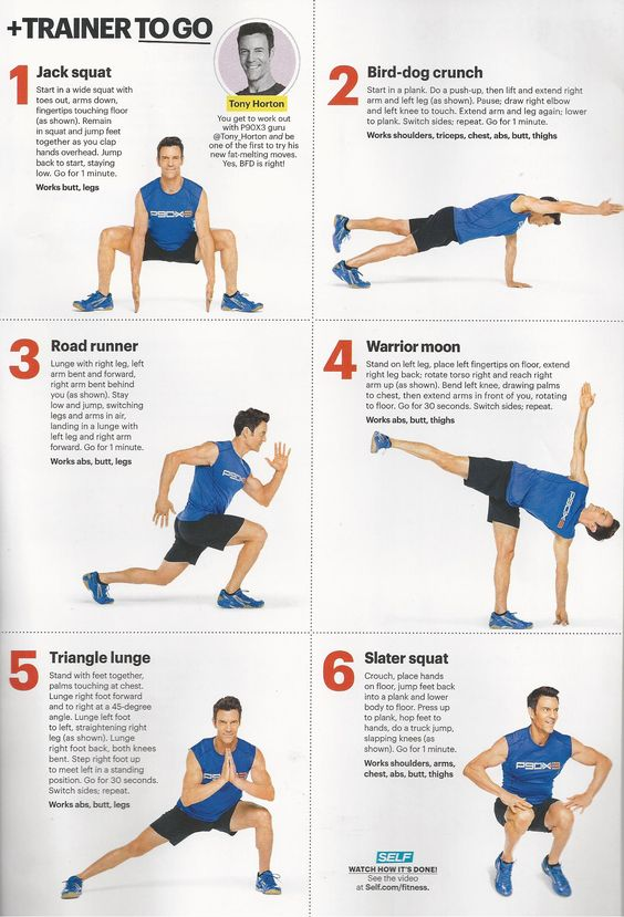 Tony Horton of P90x fame in SELF magazine www.brooklynfitchick.com