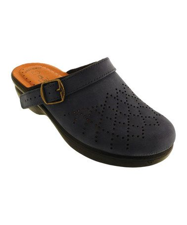 Take a look at this Navy Perforated Clog by Fly Flot on #zulily today!