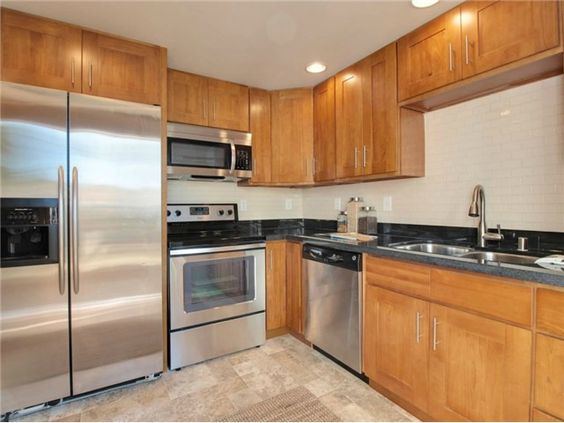 Kitchen Flooring Oak Cabinets And Flooring On Pinterest