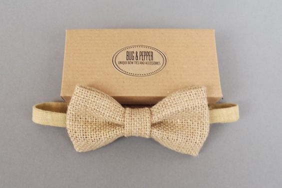 Hey, I found this really awesome Etsy listing at https://www.etsy.com/listing/157642990/natural-burlap-wedding-bow-tie-baby-bow