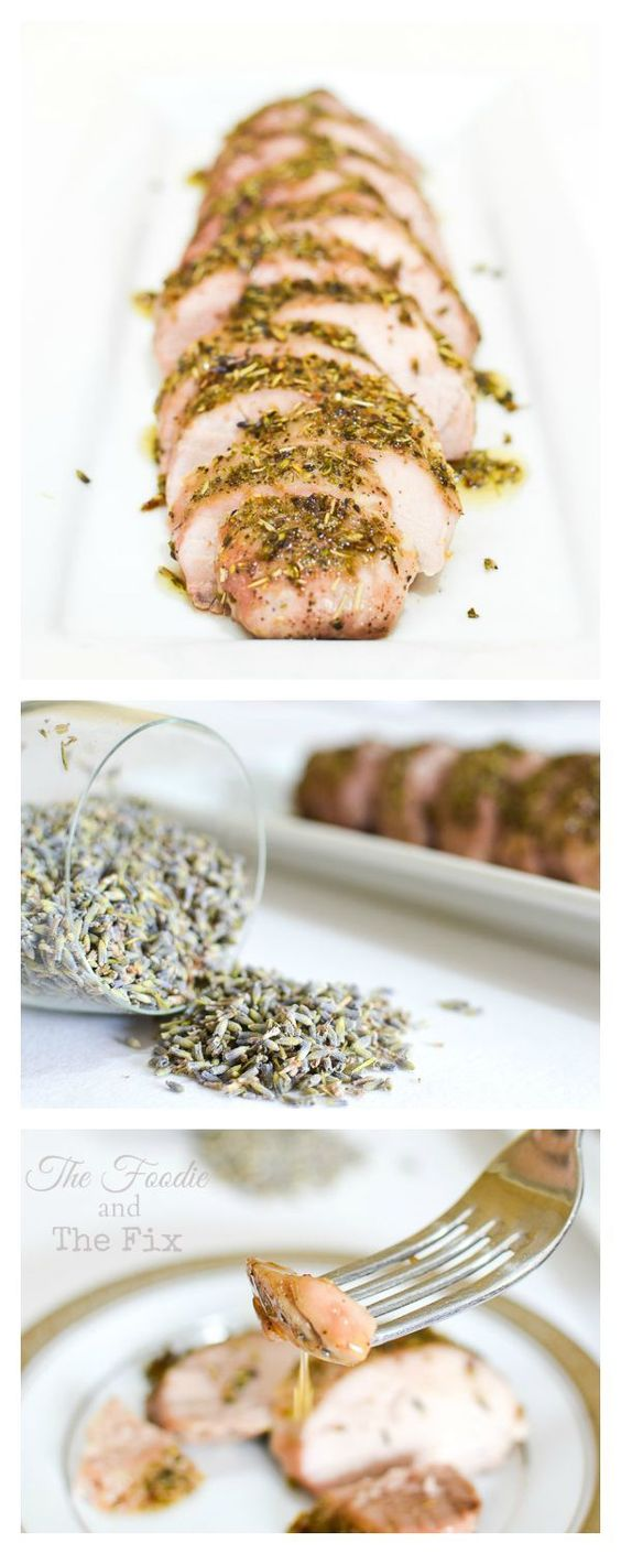 Lavender-Honey-Roasted Pork Tenderloin - 1 RED, 2 tsp honey per serving