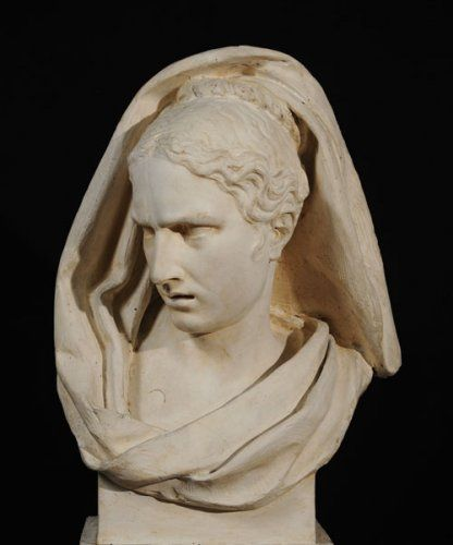 François Rude. Attention Mingled with Fear, 1812. Plaster. 26 1/8 x 15 9/16 x 12 1/4 in. École des Beaux-Arts, Paris (TES 5). Courtesy American Federation of Arts