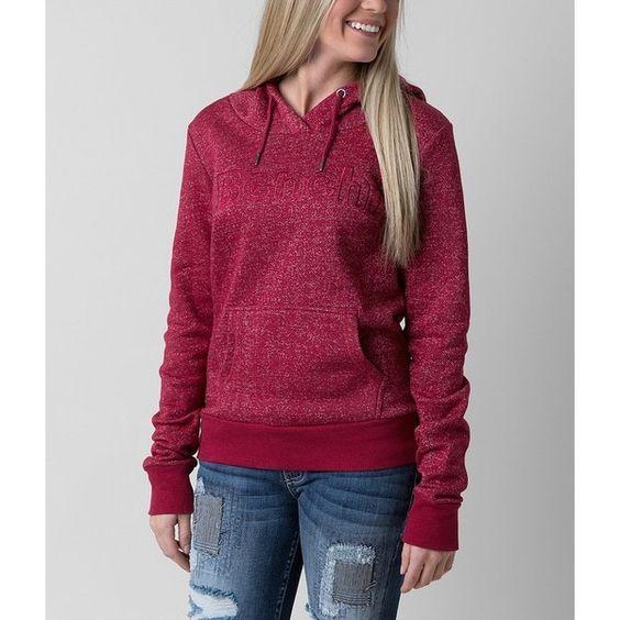 Bench Reggaton Sweatshirt (69 NZD) ❤ liked on Polyvore featuring tops, hoodies, sweatshirts, hoodies sweatshirts, fleece lined hoodie, purple sweatshirt, hooded pullover and fleece lined hooded sweatshirt