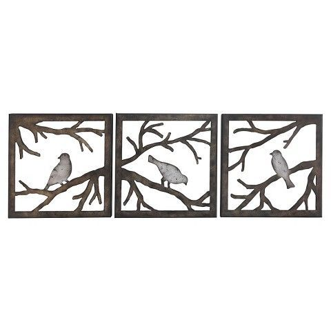 Birds On Branch 3 Piece 11x11 Target