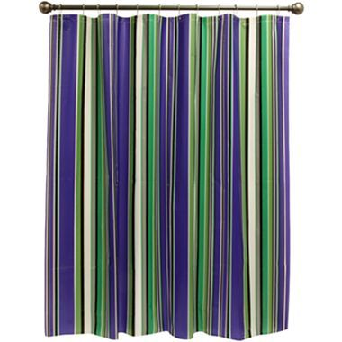 Collegiate stripe shower curtain jcpenney make into - Jcpenney bathroom window curtains ...