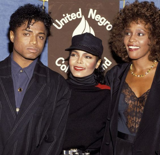 Randy Jackson, Janet Jackson and Whitney Houston