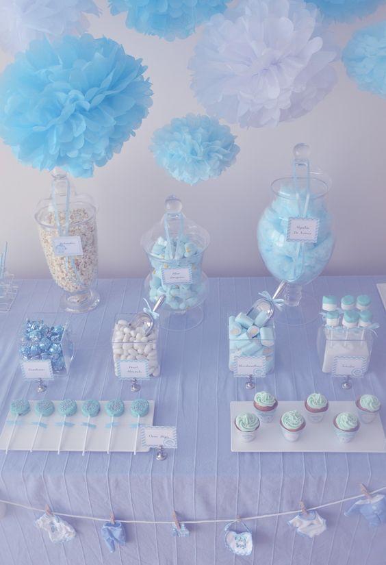 Mesa dulce baby shower para dar la bienvenida a un ni o for Mesa de dulces para baby shower nino