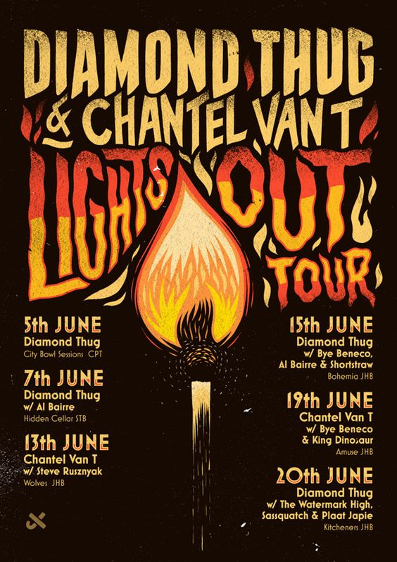 Diamond Thug 'Lights Out' Tour by Ian Jepson, via Behance