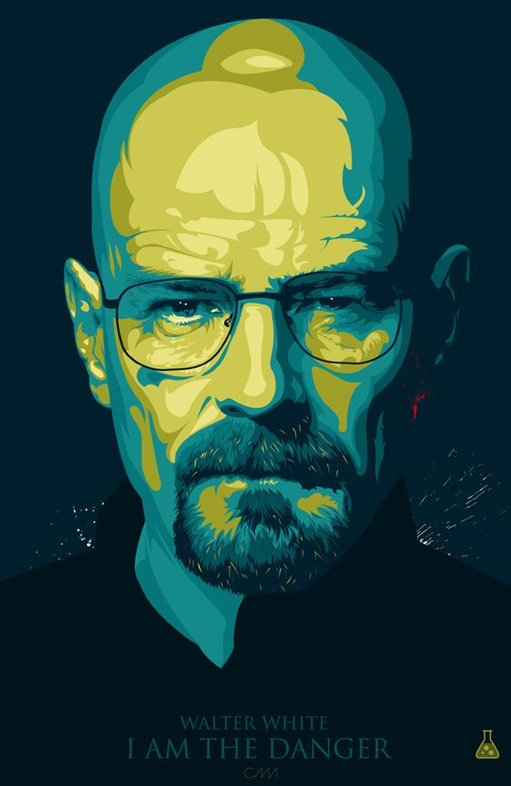 breaking bad fan art walter white jessie pinkman on