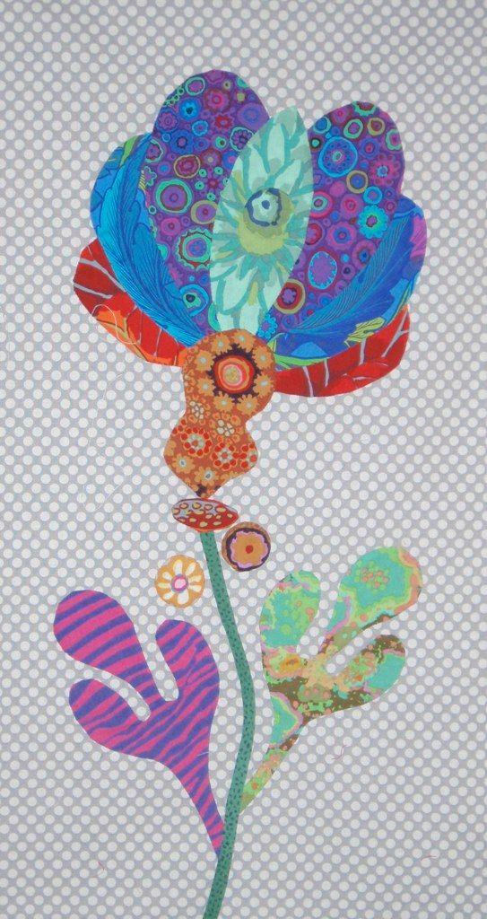 FOLK ART FLOWER - Kim McLean Quilts For All Pinterest Gardens, Folk art and Flower