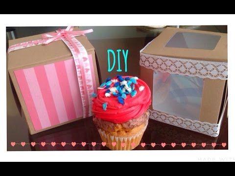 Como hacer una caja para cupcake o regalo l diy youtube - Como hacer una caja ...