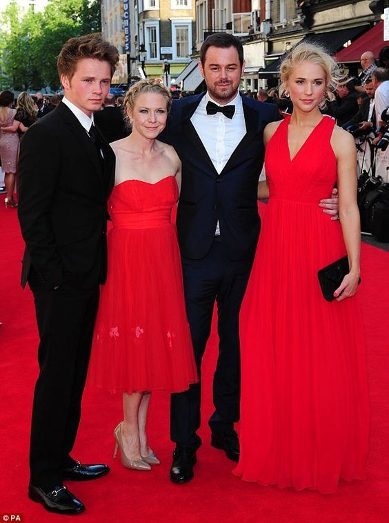 Red-carpet glamour: EastEnders actors Sam Strike, Kellie Bright, Danny Dyer and Maddy Hill arrive at the TV BAFTAS