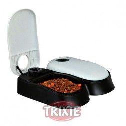 Comedero Para Perros Automático Tx2 2X300 Ml Gris Y Negro Trixie