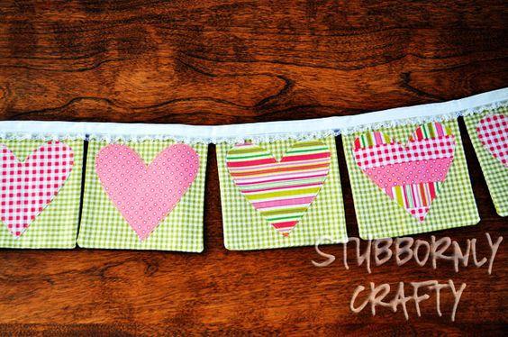 Stubbornly Crafty: Valentine's Day Banner (Mini Tutorial)