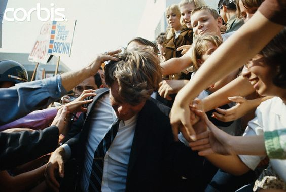 Supporters Mob Robert Kennedy Date Photographed: 01 November 1965