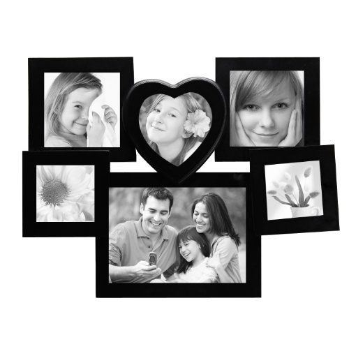 ADECO PF0217 6-Opening Black Wooden Wall Hanging Collage Photo Picture Frames - Holds 3x3 4x4 & 5x7 Inch Photos, Best Gift by ADECO, http://www.amazon.com/dp/B00CIFHXA0/ref=cm_sw_r_pi_dp_-T-Qrb1N6DVBC