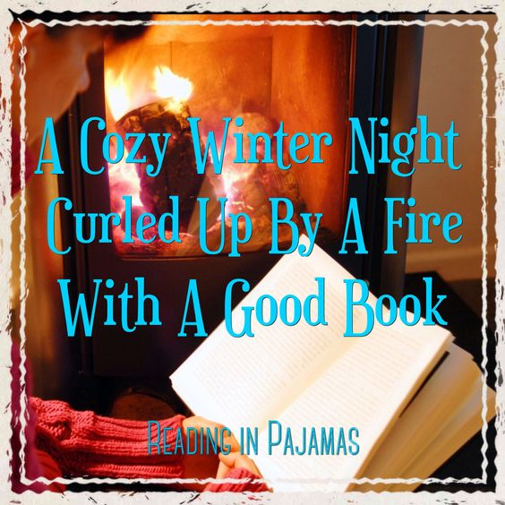 Cozy winter night with a good book.