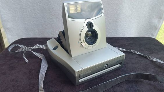 POLAROID 1200FF SILVER / GRAY INSTANT FILM CAMERA #Polaroid