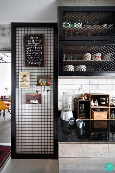 Charming Industrial Cabinet Kitchen