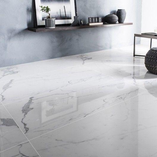 Carrelage Sol Et Mur Blanc Effet Marbre Rimini L 60 X L 120 Cm Carrelage Sol Carrelage Interieur Salon Maison