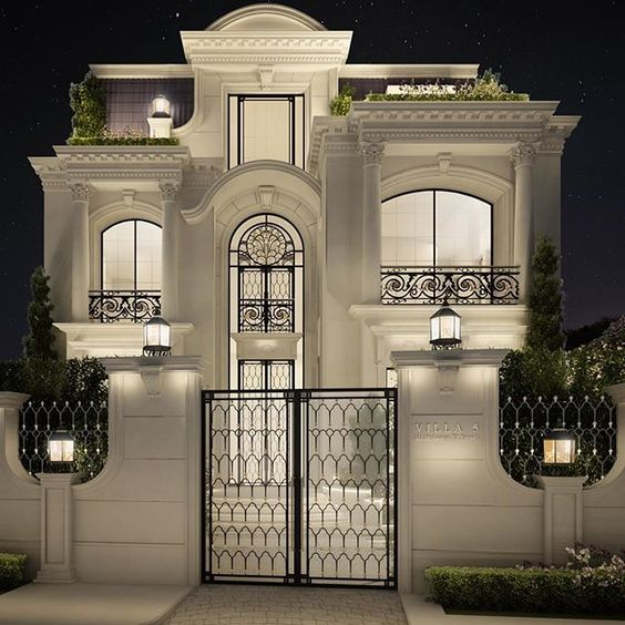 Private villa architecture design qatar doha ions for Classic architecture homes