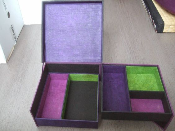 Tuto de la boite echelle cartonnage pinterest - Tuto boite en carton ...