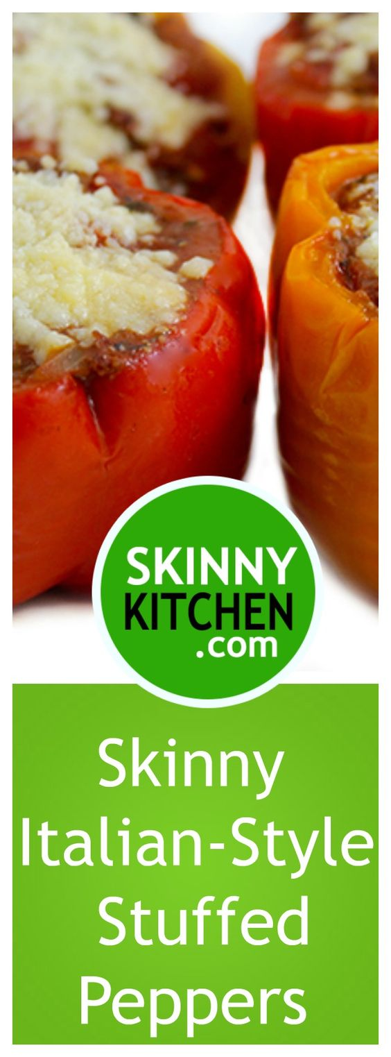 Italian-Style Stuffed Peppers. A simple and hearty meat sauce, stuffed ...