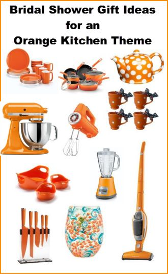 Wedding Gift Ideas For Kitchen : ideas orange kitchen pots orange kitchen decor bridal shower gifts ...