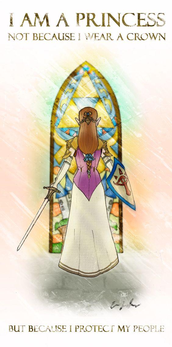 Legend Of Zelda Love Quotes zelda : i am a princess; not because i ...