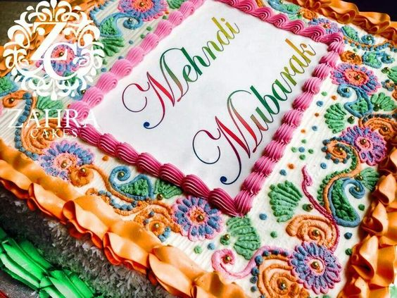 Mehndi Cake Designs : Mehndi cake cakes pinterest and