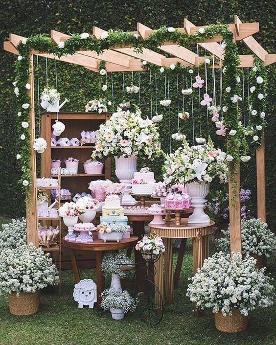 Delicadeza e doçura nesse chá de bebê ??? amei esse jardim! . . . ? Assessoria, acervo, decoraçã