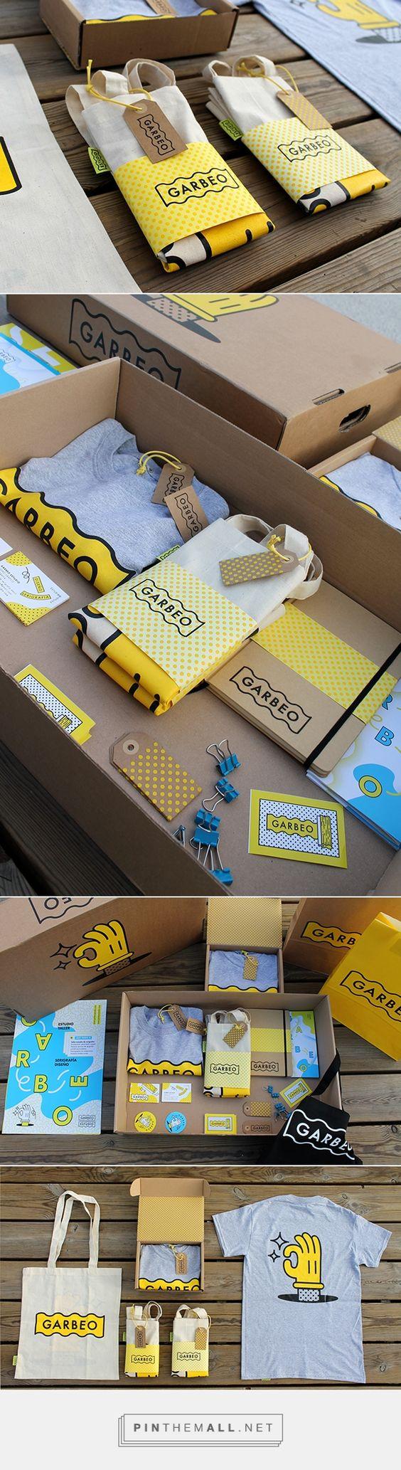 Garbeo. Promotional stuffs. via @bowlofhoney #branding #design (Join design group board at https://www.pinterest.com/aldenchong/just-a-board-of-designs/)