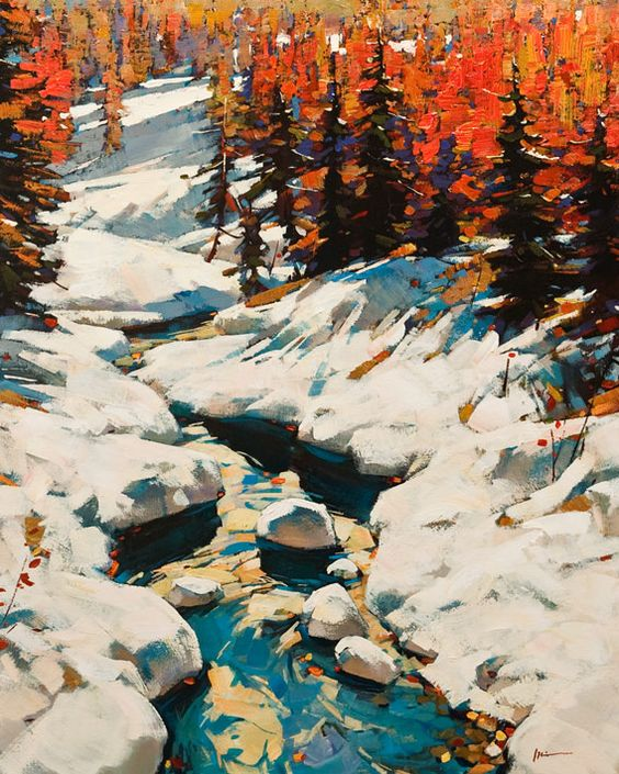 """Melting Snow,"" by Min Ma 24 x 30 - acrylic $4060 Unframed"