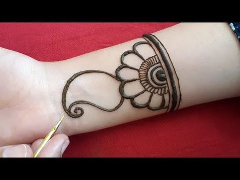 mehandi design simple and easy for front hand