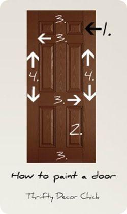How to paint a door.