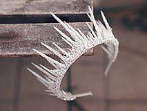 Ozdoby do vlasov - dvojitě zdobená koruna pro ledovou královnu - 7693482_