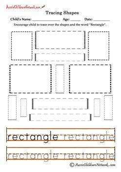 tracing shapes worksheets rectangles transitional. Black Bedroom Furniture Sets. Home Design Ideas