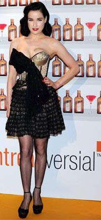 Dita Von Teese in Christian Dior Spring 2010 at the Cointreau Madrid photocall, May 2010