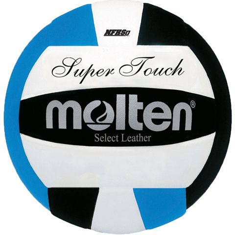 Volleyball - Molten's Super Touch Volleyball in blue/black. We LOVE this color combination!