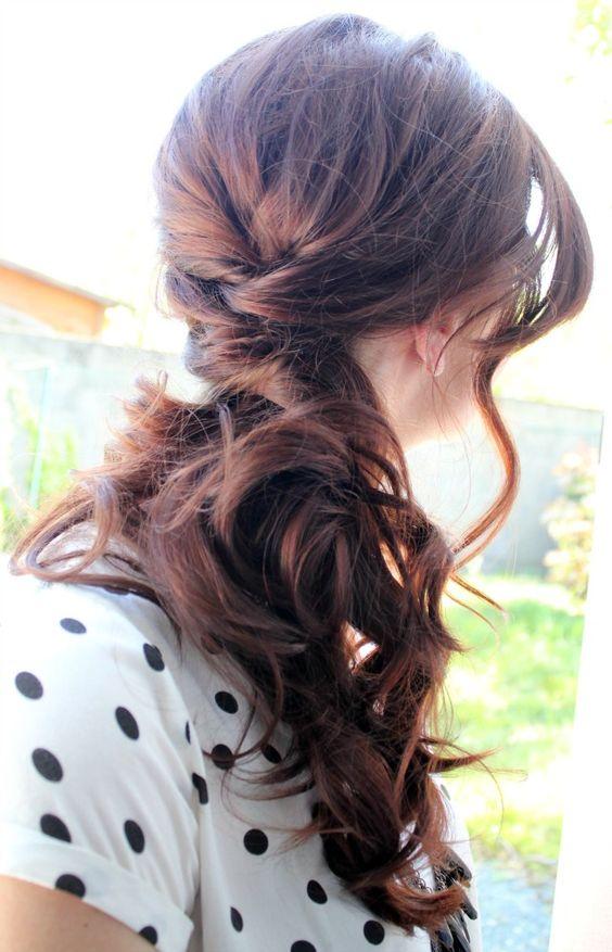 side swept wedding hairstyle