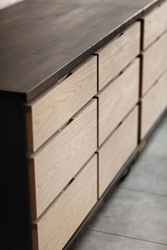 Concealed Hand Slots On Drawers Creating A Very Minimal